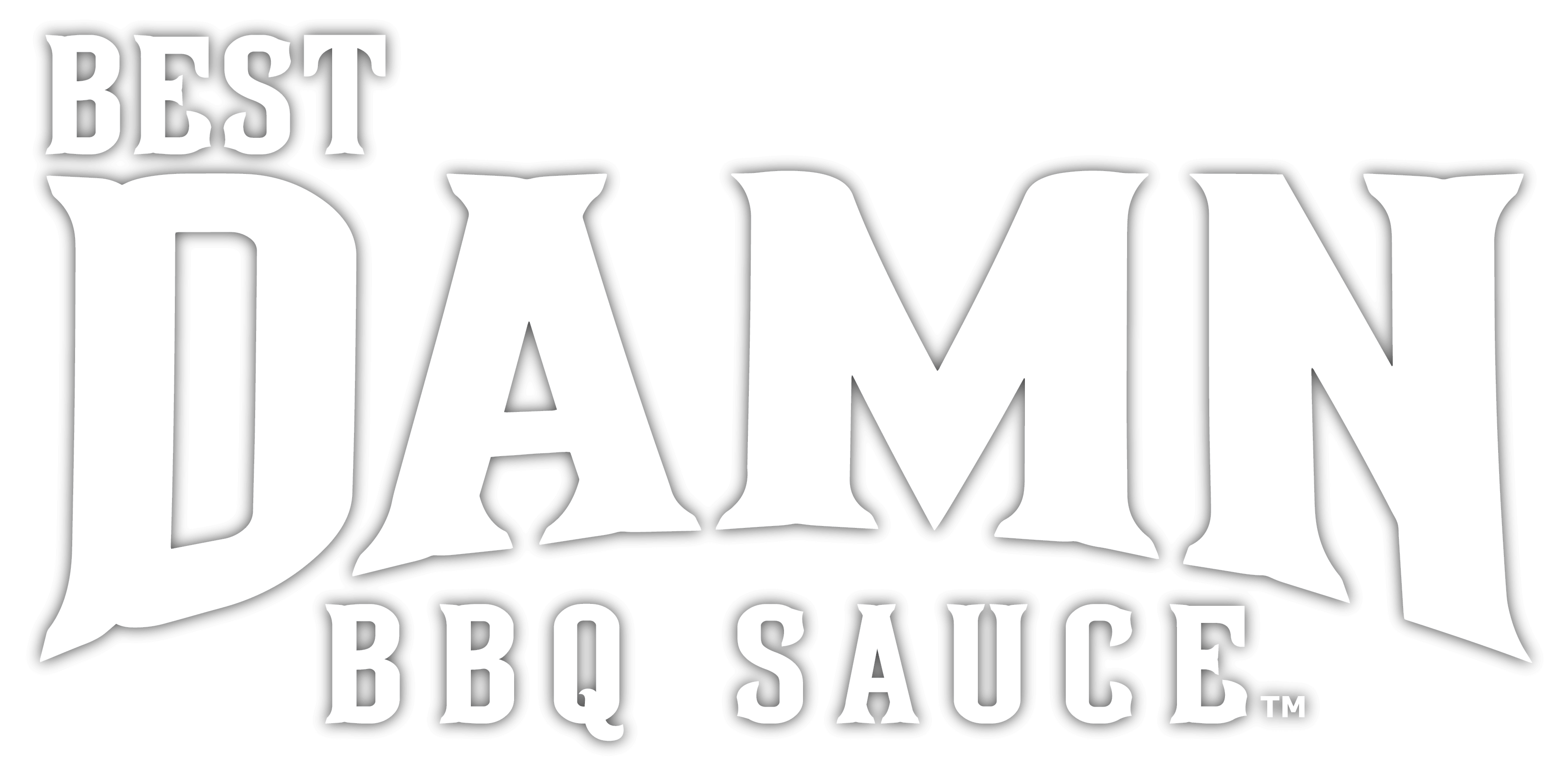 best damn bbq logo white